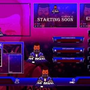Violet Maskman Twitch Overlays Package